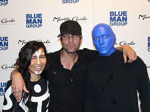 04.18.15 Criss Angel at Blue Man Group inside Monte Carlo Resort and Casino