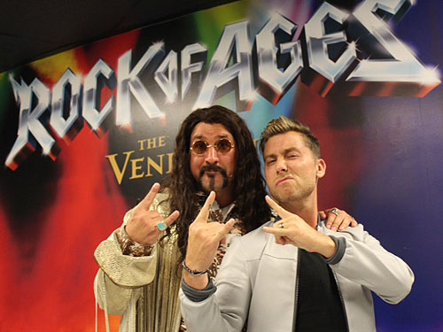 Lance Bass with ROCK OF AGES guest star Joey Fatone 2