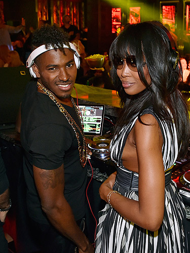 Naomi Campbell and Ruckus OMNIA Grand Opening Heart of OMNIA