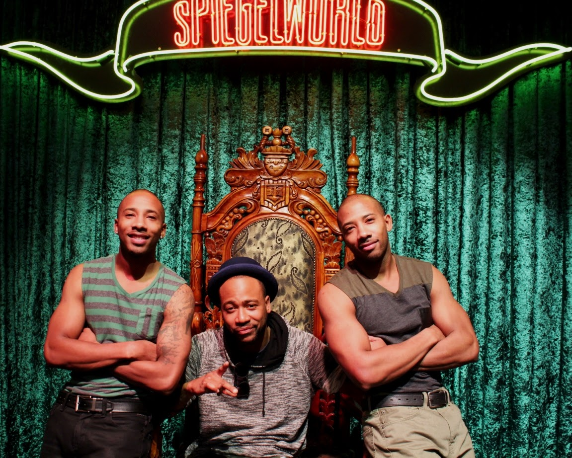 Columbus Short with tap dancing duo Sean and John at ABSINTHE 4-30-15