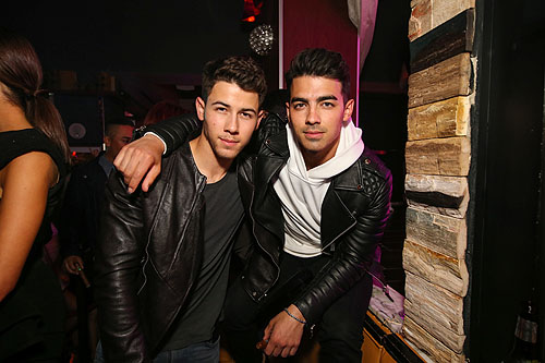Nick and Joe Jonas inside Hyde Bellagio 4.25.15