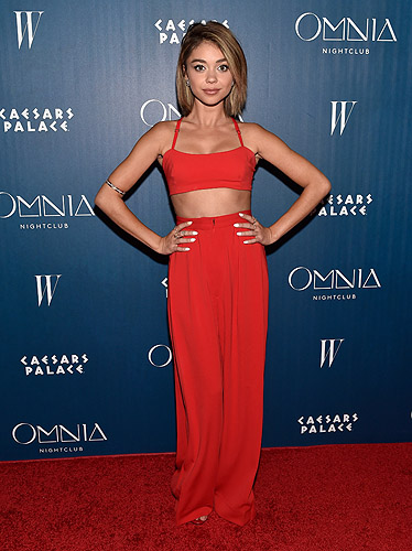 Sarah Hyland OMNIA Grand Opening Red Carpet