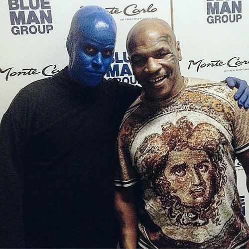 05.30.15 Mike Tyson at Blue Man Group Las Vegas in Monte Carlo Resort and Casino