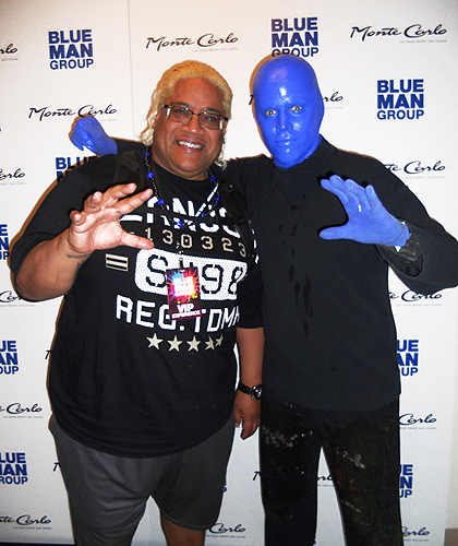 6.23.15 Rikishi at Blue Man Group in Monte Carlo Resort and Casino