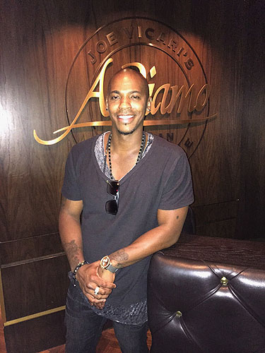 Mehcad Brooks visits Andiamo Steahouse at the D Las Vegas