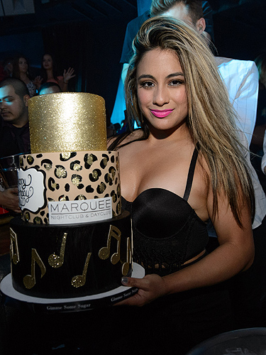 Ally Brooke celebrates her 22nd birthday at Marquee Nightclub 7.6.15