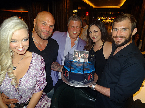 Dinner at Andiamo with Randy Couture Ryan Couture Emily Couture Mindy Robinson with owner Derek Stevens