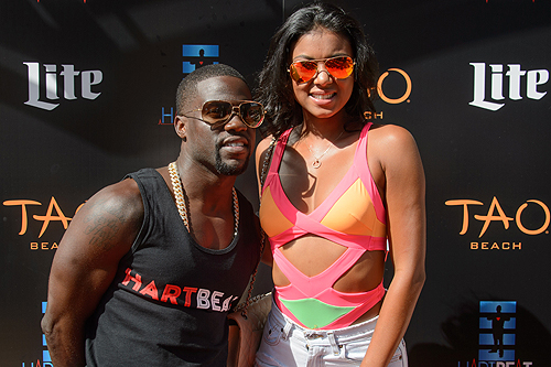 Kevin Hart Eniko Parrish at TAO Beach HartBeat Weekend 6