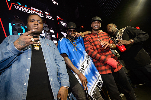 Sean Kingston 2 Chainz Trey Songz and Kevin Hart at Marquee