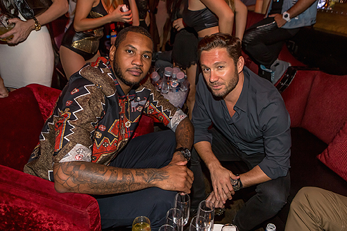 Carmelo Anthony Jason Strauss at LAVO Casino Club 1