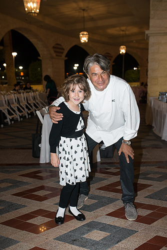 Chef Kim Canteenwalla poses with Make-A-Wish beneficiary Emma Thurgood Credit Andrew James