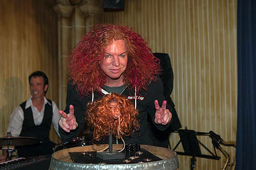 Carrot Top meets his shrunken head at The Golden Tiki Carlos Larios Invision AP