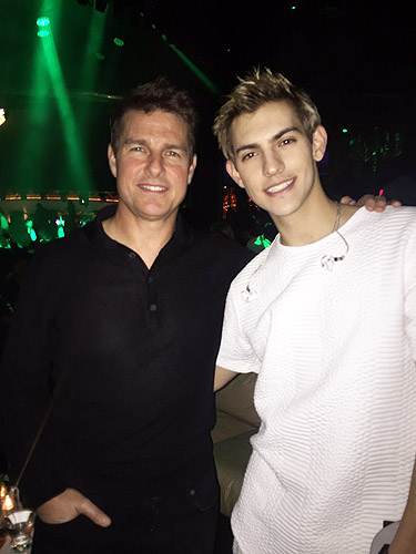 Tom Cruise and Nick Hissom at XS Nightclubs at Wynn Las Vegas 12.4.15 low res
