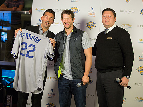 Clayton Kershaw Presents Signed Jersey to Lagasses Stadium