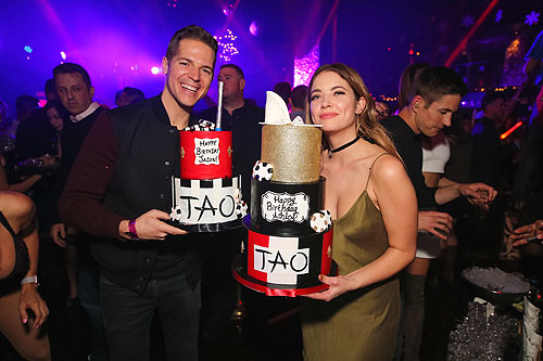 Jason Kennedy and Ashley Benson at TAO Nightclub