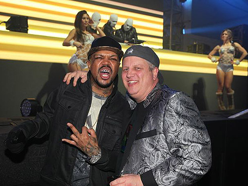 DJ Paul and the D CEO and co-owner Derek Stevens at DLVEC