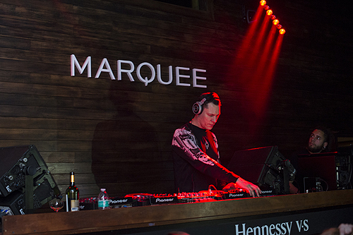 Tiesto performs at Marquee Takeover at Verso - Big Game Weekend presented by Hennessy V.S - Day 2 on February 5 2016 in San Francisco California. Photo by Noel VasquezGetty Images for MHUSA