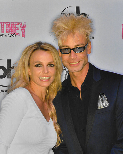 Murray and Britney Spears Backstage Planet Hollywood