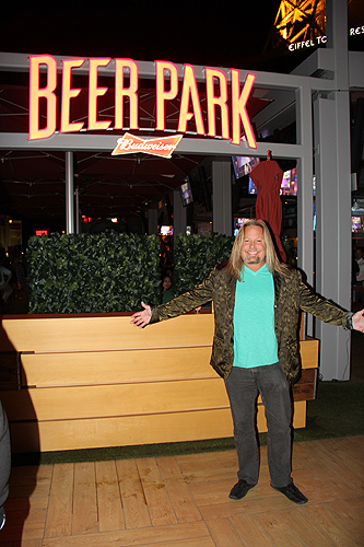 Beer Park Vince Neil with Beer Park Sign Joey Olvera