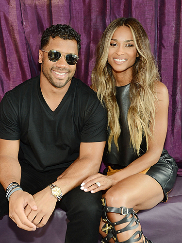 Ciara and Russell Wilson at Marquee Dayclub 3.19.16
