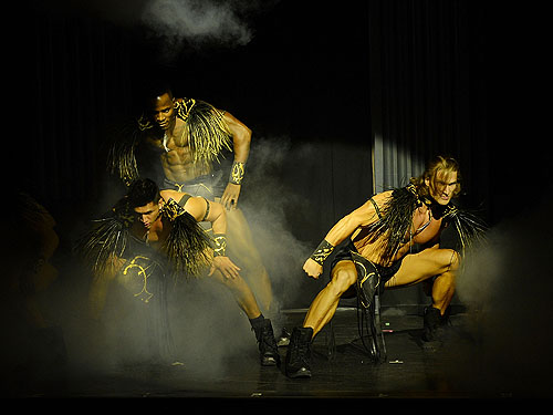 53X Male Dancers Performing Onstage