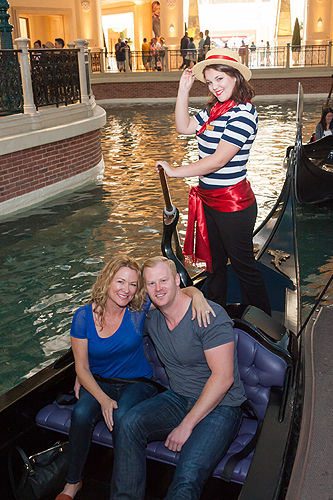 Sarah Colonna and Jon Ryan enjoy a romantic gondola ride at The Venetian Las Vegas Courtesy The Venetian Las Vegas 1