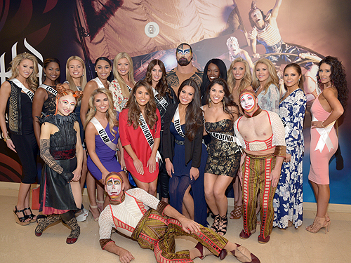 2016 Miss USA Contestants at KA by Cirque du Soleil May 29
