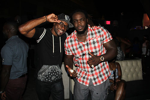 DJ ShadowRed with Bermane Stiverne at Chateau Nightclub