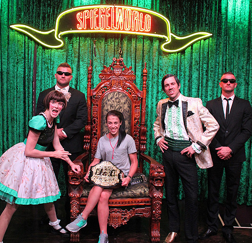 Joanna Jedrzejczyk with The Gazillionaire Joy Jenkins and Duo Vector at ABSINTHE at Caesars Palace 7.10.16 2