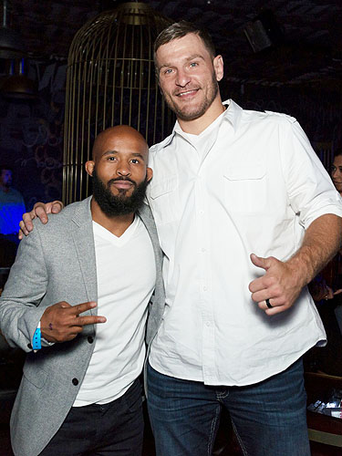 Stipe Miocic with Demetrius Johnson at Foxtail Nightclub at SLS Las Vegas 7.9.2016