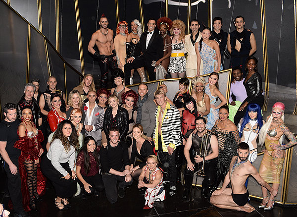 Chloe Grace Moretz with the cast of Zumanity by Cirque du Soleil Nov. 27 2016