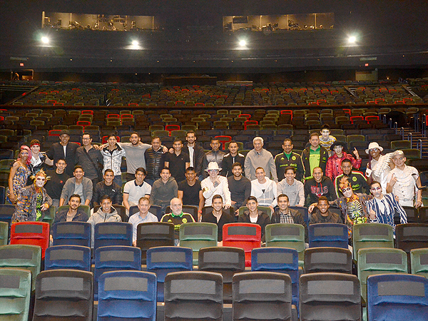 Mexicos National Soccer Team at Michael Jackson ONE by Cirque du Soleil