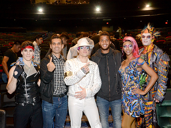 World cup players Rafa Marquez and Gio Dos Santos at Michael Jackson ONE by Cirque du Soleil