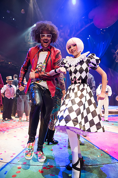Redfoo and Grace VanderWaal star in the fifth annual One Night for One Drop in Las Vegas March 3 2017