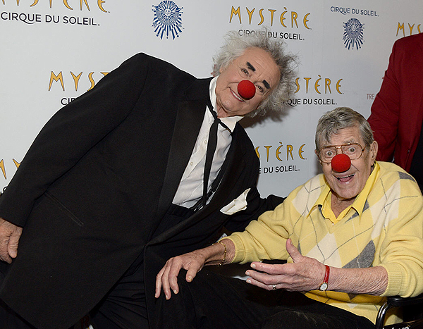 Brian Dewhurst L and Jerry Lewis R at Mystere by Cirque du Soleil March 14 2017