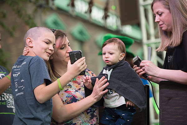 A 10 month old shavee is New York New York Hotel Casinos youngest St. Baldricks Day participant