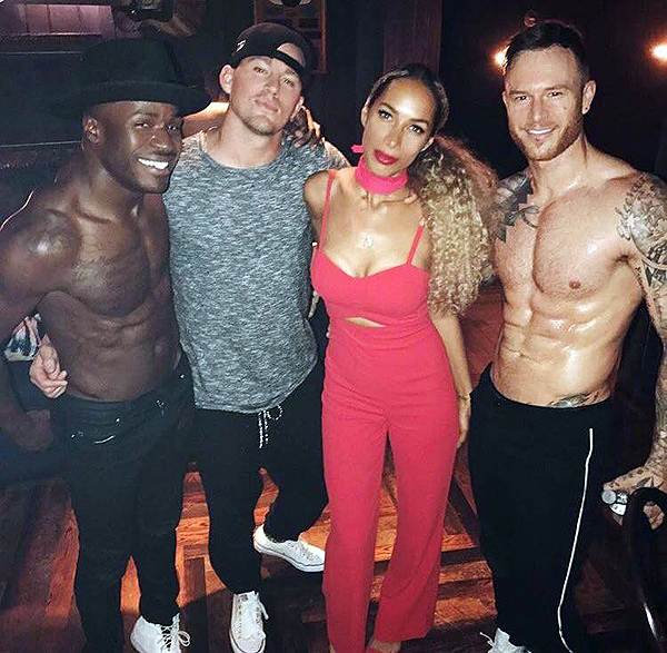 Leona Lewis Celebrates 32nd Birthday at MAGIC MIKE LIVE LAS VEGAS April 2 2017