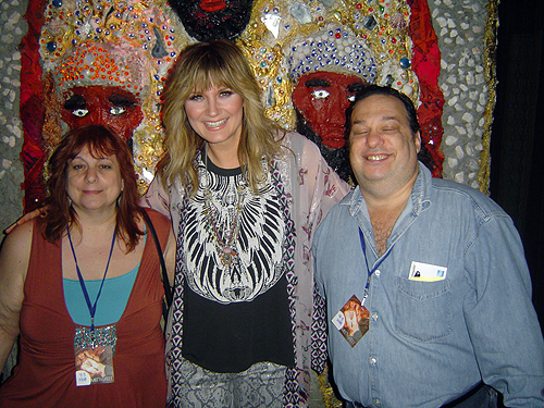 Jennifer Nettles with Patty Fantasia and her fiance Jeff Grinstein at the HOB